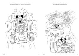 Mickey Mouse Roadster Coloring Pages Labibi