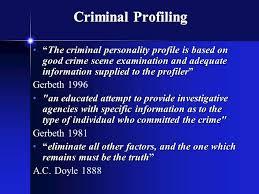 criminal profiling fbi vi cap investigative psychology 3 criminal profiling ldquo
