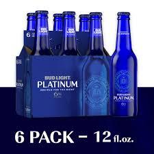 Bud Light Platinum 24 Pack Walmart Bud Light Platinum Beer 6 Pack Beer 12 Fl Oz Bottles Walmart Com