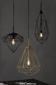 geometric wire cage pendant light hanging light gems diamonds by jspr diamond design