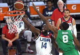 US men's national basketball team falls ...
