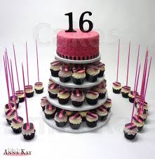 Sweet Sixteen Cupcake Tower Cakecentralcom