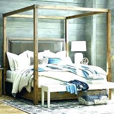 Canopy Full Size Bed 4 Full Size Wood Canopy Bed Frame – facilacceso ...