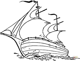 Mayflower Ship Coloring Page Free Printable Coloring Pages