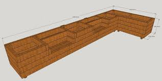 raised beds with bench seats