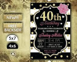 40th Birthday Invitations Free Templates Invitation For 40th Birthday Party Guluca
