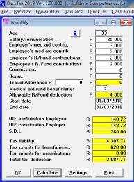 Salary Calculator Adorable BACKTAX Softbyte Computers