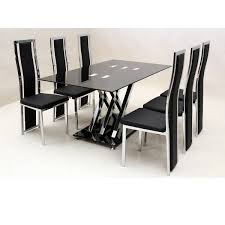 inexpensive dining room tables and chairs. glass dining room table with six chairs inexpensive tables and