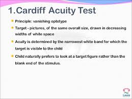 Cardiff Visual Acuity Chart Assesment Of Visual Acuity In Children