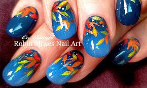 DIY Fall Leaves Nail Art | Easy Autumn Nails Design Tutorial - YouTube