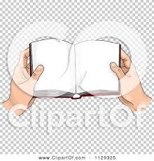 cartoon of hands holding an open book