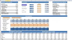 Cash Flow Model Excel Bloomberg Training Discounted Cashflow Analysis Dcf Www Fintute Com
