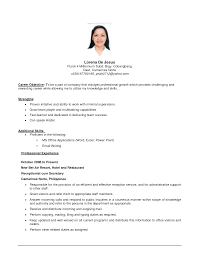Sample Resume Objectives First Job Sample Cover Letter Objective