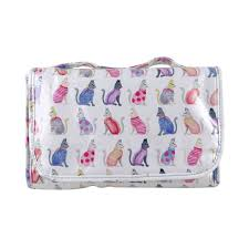 cats by kat um tri fold cosmetic bag