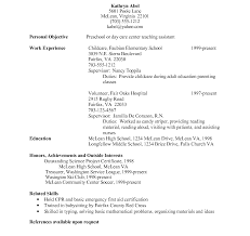 Resume For Child Care Job Best of Cv Childcare Child Care Resume Sample Jennifer Pertaining To
