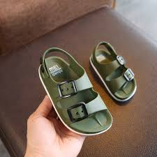 2019 summer boys leather sandals for baby flat children beach shoes kids sports soft non