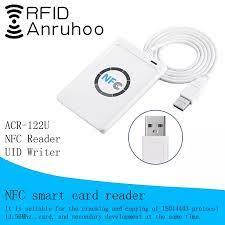 ACR122U erişim kontrol kartı teksir RFID okuyucu NFC şifreleme kırma yazar  akıllı çip S50 UID kart 13.56Mhz anahtar fotokopi Control Card Readers