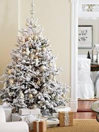White Christmas Tree Decorating Ideas White Flocked Christmas Tree  Decorations