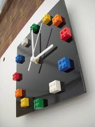 diy lego bedroom ideas. multicolour lego® bricks on black gloss acrylic square wall clock diy lego bedroom ideas