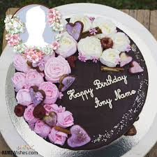 special birthday cake with name top