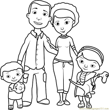 Small Picture Doc McStuffins Family Coloring Page Free Doc McStuffins Coloring