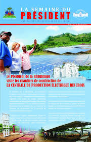 Image result for jovenel moise et électrification d'haiti