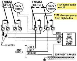 how to wire t106 timer t106 and t104 timer control 2 speed pump