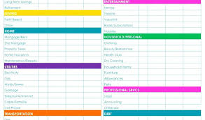 Personal Financial Budget Sheet Home Finance Spreadsheet And Personal Finance Budget Template