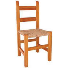 Silla de Comedor barra cuadrada de pino con asiento de Enea - Anea