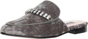 Sjp By Sarah Jessica Parker Womens Twain Loafer Flat Grey Velvet 37 5 B Eu 7 Us