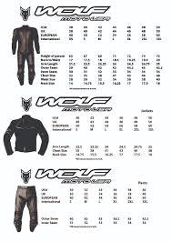 Size Chart Wolf Moto Usa