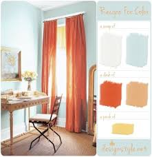 light blue and orange proof that i may find a shade i like to paint
