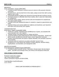 How To Write A Server Resume Server Resume Summary Samples How To