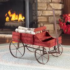 amish wagon decorative indoor outdoor garden backyard planter red com