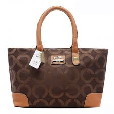 Coach Madison In Signature Large Coffee Totes AQL