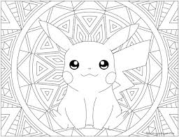 Searching for a coloring page? 025 Pikachu Pokemon Coloring Page Hard Pokemon Coloring Pages Transparent Cartoon Jing Fm
