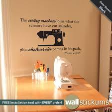 wall decal sewing e vinyl wall art craft e sticker wall decor craft