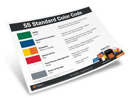 Ansi Color Chart Standards 5s Color Coding Chart Operational Efficiency Visual