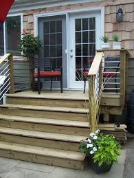 small decks patios small. Our Back Deck Design Very Cost Effective Used Conduit Electrical Tubing Small Decks Patios
