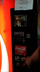 Coca Cola Vending Machine Manual Mesmerizing Max Headroom Taking CocaCola Coke Machine YouTube