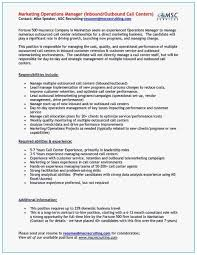 25 Outbound Call Center Resume Sofrenchy Resume Examples