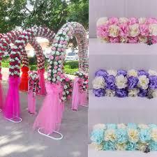 diy wedding decoration props simulation silk flowers rose wedding arch wedding artificial flower road led