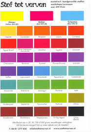 Tulip Fabric Dye Color Chart Bright Dye Na Flow Color Chart 2019