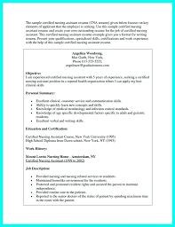 Objective On Resume For Cna Cna Experience Resume Download Resume No Experience Certified 51