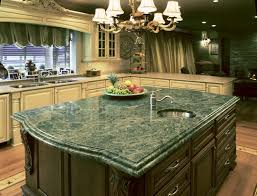 green granite countertops kitchen