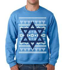 Jewish Star Hanukkah Crewneck Sweatshirt