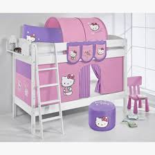 hello kitty kids furniture. Jelle Hello Kitty Children Bunk Bed In White With Curtains P Kids Furniture T