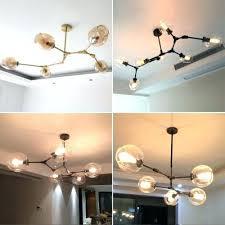 glass globe chandelier pendant light lamp shade diy