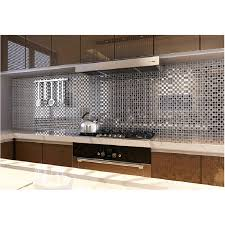 tst crystal glass tile mosaic wall chrome water wave kitchen interior design