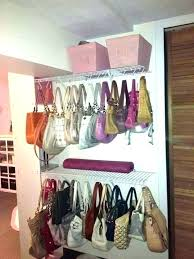 how to organize purses in closet purse organizing ideas jewelry diy hanging